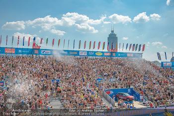Beachvolleyball - Donauinsel Wien - Sa 04.08.2018 - Stadion, Zuschauer, Übersichtsfoto, Athmosphäre, Center Court,26