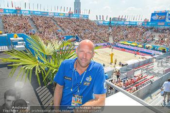 Beachvolleyball - Donauinsel Wien - Sa 04.08.2018 - Nik BERGER im Stadion28