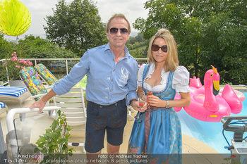 Lugners Gartenparty - Lugner Privatvilla - Di 07.08.2018 - Heribert KASPER, Andrea vom Badesee27