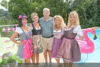 Lugners Gartenparty - Lugner Privatvilla - Di 07.08.2018 - Dani KENNEDY, Nina Bambi BRUCKNER, Sonja SCHÖNANGER, Simona, Ve33
