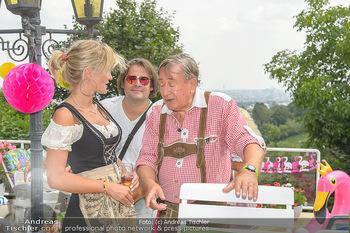 Lugners Gartenparty - Lugner Privatvilla - Di 07.08.2018 - Richard LUGNER mit Simona52
