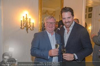 Privatempfang für Michael Ludwig - Privatwohnung Birgit Sarata - Di 04.09.2018 - Karl WESSELY, Daniel SERAFIN4