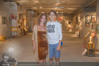 Art Exhibition - Galerie Baxter Home - Mi 05.09.2018 - Carola LINDENBAUER mit Sohn Santino18
