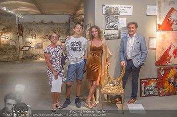 Art Exhibition - Galerie Baxter Home - Mi 05.09.2018 - Carola LINDENBAUER mit Sohn Santino und Eltern19