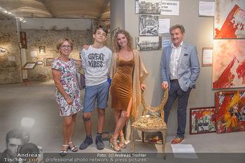 Art Exhibition - Galerie Baxter Home - Mi 05.09.2018 - Carola LINDENBAUER mit Sohn Santino und Eltern20