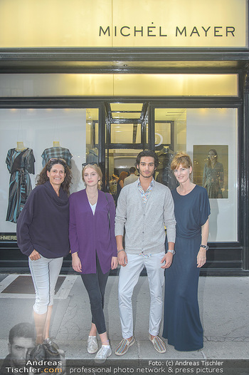 Cashmere Bestell-Event - Michel Mayer Store Wien - Do 13.09.2018 - Caro STRASNIK, Michel MAYER mit Models14