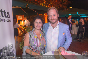 Starnach Wachau Seitenblicke Party - Schloss Dürnstein Wachau - Fr 14.09.2018 - Niki KLINGOHR mit Ehefrau2