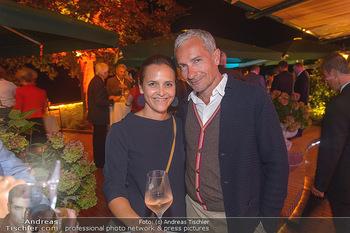 Starnach Wachau Seitenblicke Party - Schloss Dürnstein Wachau - Fr 14.09.2018 - Rainer PARIASEK mit Ehefrau Eva3