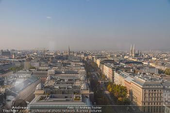 Seiler & Speer Wiener Städtische PK - Ringturm Wien - Do 11.10.2018 - Blick über Wien, Panorama, Ringstraße, Votivkirche, Rathaus, S15