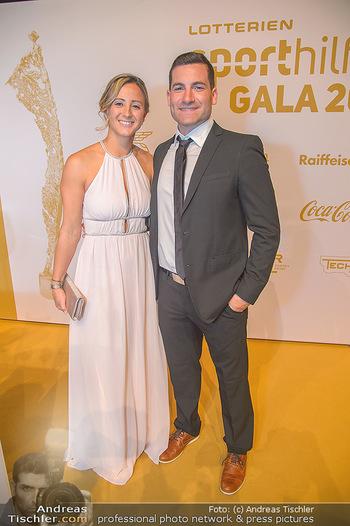 Sporthilfe Sportler des Jahres Gala - Marx Halle - Mi 31.10.2018 - Michaela KIRCHGASSER mit Ehemann Sebastian47