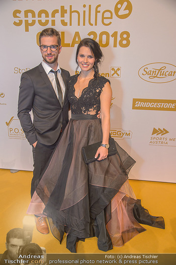 Sporthilfe Sportler des Jahres Gala - Marx Halle - Mi 31.10.2018 - Anna VEITH mit Ehemann Manuel48