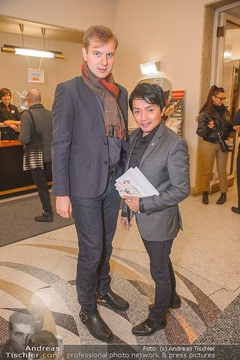 Dreamland Unicef Charity Gala - Theater an der Wien, Wien - Do 22.11.2018 - Nhut LA HONG mit Freund Fabian BUCHMANN4