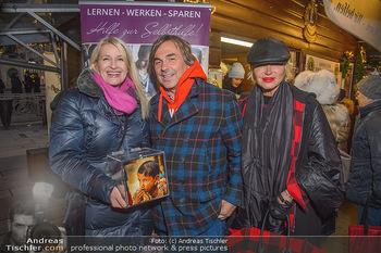 ZuKi Punsch Charity - Am Graben, Wien - Do 13.12.2018 - Claudia STÖCKL, Hubertus HOHENLOHE, Simona GANDOLFI4
