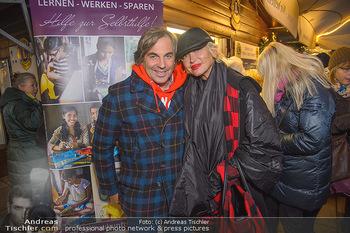 ZuKi Punsch Charity - Am Graben, Wien - Do 13.12.2018 - Hubertus HOHENLOHE, Simona GANDOLFI6