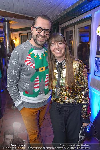 Grassmugg Weihnachtsfeier - Purzel´s, Wien - Di 18.12.2018 - Gerald FLEISCHHACKER mit Freundin Tina HOLZER18