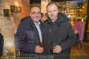 Restaurant Opening - Le Burger Rotenturmstraße, Wien - Di 08.01.2019 - Heinz STIASTNY, Alex LIST3