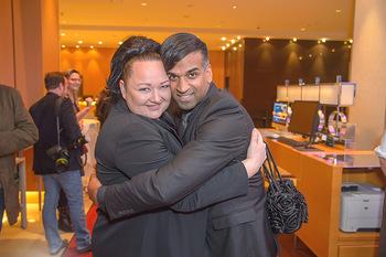 Jeanine Schiller Neujahrscocktail - Hilton am Stadtpark - Di 08.01.2019 - Tini KAINRATH, Ramesh NAIR36