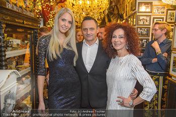 Künstler Neujahrsempfang - Marchfelderhof - Mi 09.01.2019 - Christina LUGNER, Heimo TURIN mit Freundin Beatrice KÖRMER1