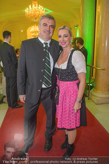 Steirerball - Hofburg Wien - Fr 11.01.2019 - Sabine WENGER mit Ehemann Peter6