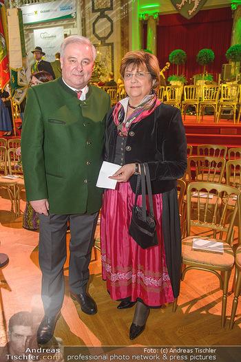 Steirerball - Hofburg Wien - Fr 11.01.2019 - Hermann SCHÜTZENHÖFER mit Ehefrau Marianne53