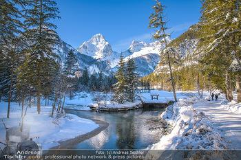 Österreich in Farben - Oberösterreich - Do 17.01.2019 - Schiederweiher im Winter, Schneebedeckt, blauer Himmel, Idylle, 1