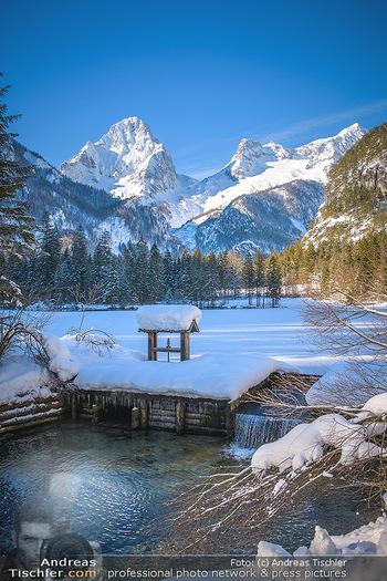Österreich in Farben - Oberösterreich - Do 17.01.2019 - Schiederweiher im Winter, Schneebedeckt, blauer Himmel, Idylle, 10