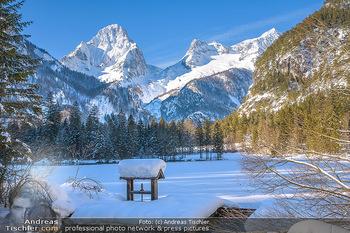 Österreich in Farben - Oberösterreich - Do 17.01.2019 - Schiederweiher im Winter, Schneebedeckt, blauer Himmel, Idylle, 11