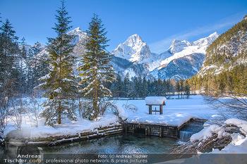 Österreich in Farben - Oberösterreich - Do 17.01.2019 - Schiederweiher im Winter, Schneebedeckt, blauer Himmel, Idylle, 12