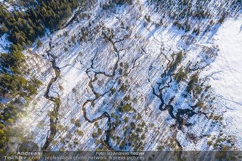 Österreich in Farben - Oberösterreich - Do 17.01.2019 - Wasseradern, Quellen im Schnee zum Almsee, Almtal, Quellwasser, 31