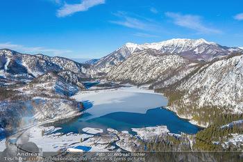 Österreich in Farben - Oberösterreich - Do 17.01.2019 - Almtal, Almsee, Großer Priel, Winter Luftbild blauer Himmel, Id32