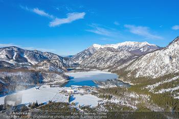 Österreich in Farben - Oberösterreich - Do 17.01.2019 - Almtal, Almsee, Großer Priel, Winter Luftbild blauer Himmel, Id33