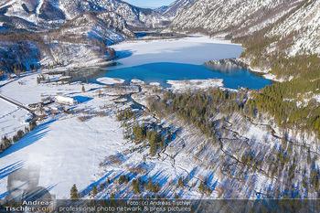 Österreich in Farben - Oberösterreich - Do 17.01.2019 - Almtal, Almsee, Großer Priel, Winter Luftbild blauer Himmel, Id34