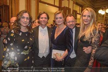 Philharmonikerball 2019 - Musikverein Wien - Do 24.01.2019 - Trevor D. TRAINA mit Ehefrau Alexis S., Petra ujnd Markus HOYOS,57
