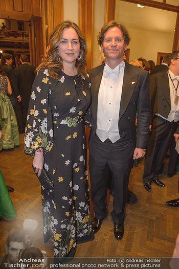 Philharmonikerball 2019 - Musikverein Wien - Do 24.01.2019 - Trevor D. TRAINA mit Ehefrau Alexis S.58