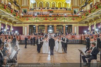 Philharmonikerball 2019 - Musikverein Wien - Do 24.01.2019 - Balleröffnung, Tanzpaare, Tänzer, Debüdanten, Einzug105