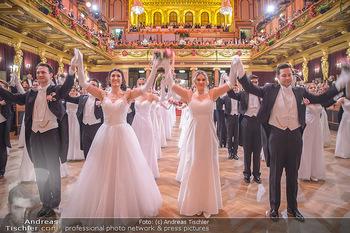 Philharmonikerball 2019 - Musikverein Wien - Do 24.01.2019 - Balleröffnung, Tanzpaare, Tänzer, Debüdanten, Einzug138