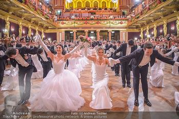 Philharmonikerball 2019 - Musikverein Wien - Do 24.01.2019 - Balleröffnung, Tanzpaare, Tänzer, Debüdanten, Einzug139
