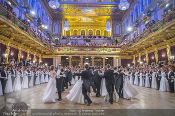 Philharmonikerball 2019 - Musikverein Wien - Do 24.01.2019 - Balleröffnung, Tanzpaare, Tänzer, Debüdanten, Einzug143