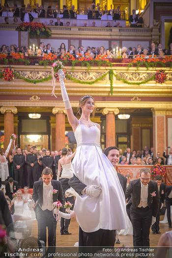 Philharmonikerball 2019 - Musikverein Wien - Do 24.01.2019 - Balleröffnung, Tanzpaare, Tänzer, Debüdanten, Einzug146