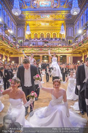 Philharmonikerball 2019 - Musikverein Wien - Do 24.01.2019 - Balleröffnung, Tanzpaare, Tänzer, Debüdanten, Einzug147