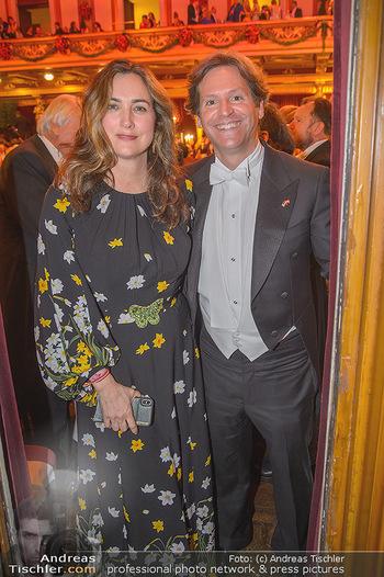 Philharmonikerball 2019 - Musikverein Wien - Do 24.01.2019 - Trevor D. TRAINA mit Ehefrau Alexis S.176
