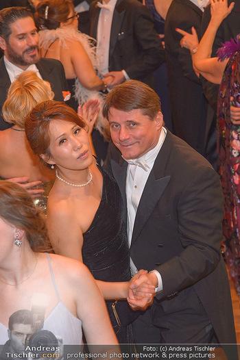Philharmonikerball 2019 - Musikverein Wien - Do 24.01.2019 - Christian SPATZEK mit Ehefrau Sun Young196