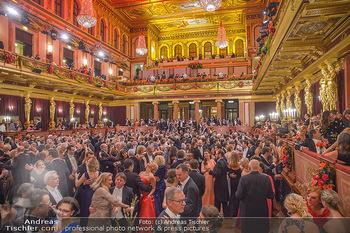 Philharmonikerball 2019 - Musikverein Wien - Do 24.01.2019 - Wiener Musikvereinssaal, goldener Saal, Publikum, Tanzflächer, 213