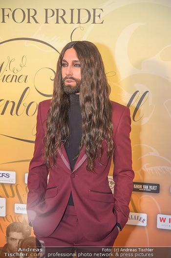 Regenbogenball - Parkhotel Schönbrunn - Sa 26.01.2019 - Conchita WURST (Fake, Double - wurde als echt präsentiert)18