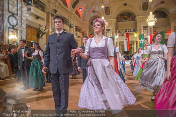 Jägerball - Hofbur - Mo 28.01.2019 - Anna MIKL mit Tanzpartner Fabian195