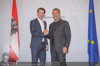 Schwarzenegger trifft Kurz - Bundeskanzleramt - Di 29.01.2019 - Arnold SCHWARZENEGGER, Sebastian KURZ1