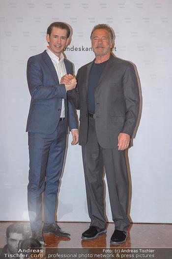 Schwarzenegger trifft Kurz - Bundeskanzleramt - Di 29.01.2019 - Arnold SCHWARZENEGGER, Sebastian KURZ21