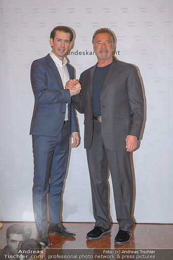 Schwarzenegger trifft Kurz - Bundeskanzleramt - Di 29.01.2019 - Arnold SCHWARZENEGGER, Sebastian KURZ22