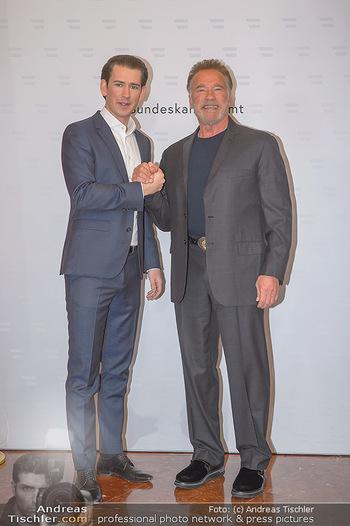 Schwarzenegger trifft Kurz - Bundeskanzleramt - Di 29.01.2019 - Arnold SCHWARZENEGGER, Sebastian KURZ23