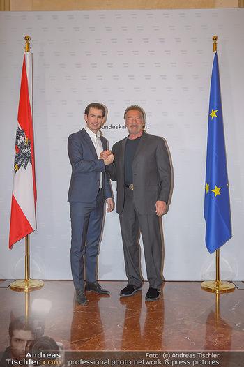 Schwarzenegger trifft Kurz - Bundeskanzleramt - Di 29.01.2019 - Arnold SCHWARZENEGGER, Sebastian KURZ24